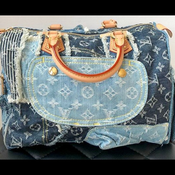 a64376d631b2 Louis Vuitton Handbags - Authentic Louis Vuitton Blue Denim SPEEDY 30